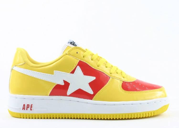 Bapesta FS-001 Low 'Yellow Red'