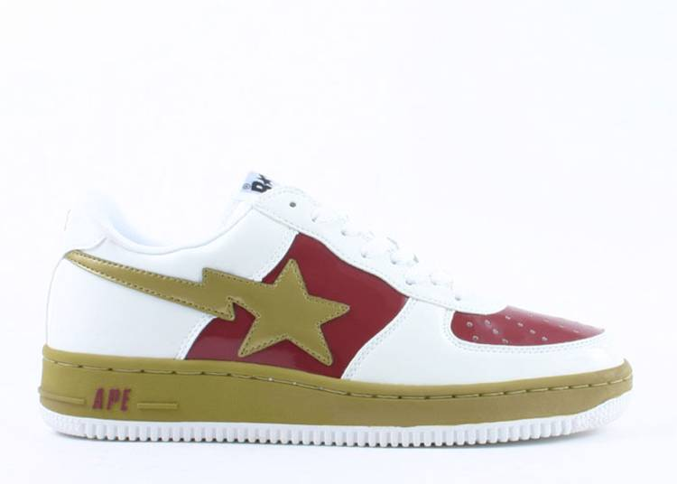 Bapesta FS-001 Low 'White Burgundy'
