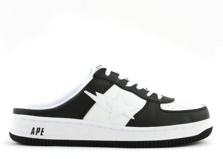 Bapesta Slip-On FS-030 Low 'White Black'