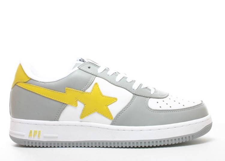 Bapesta FS-001 Low 'Gray Yellow'