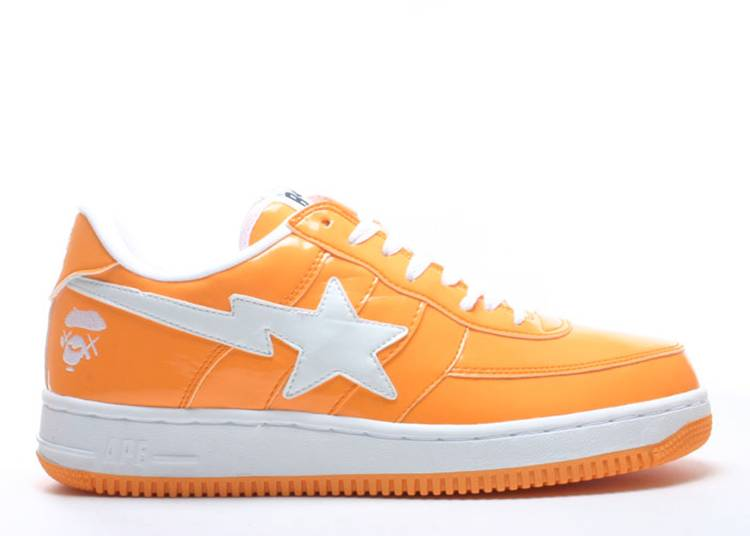 Kaws x Bapesta FS-029 Low 'Light Orange'