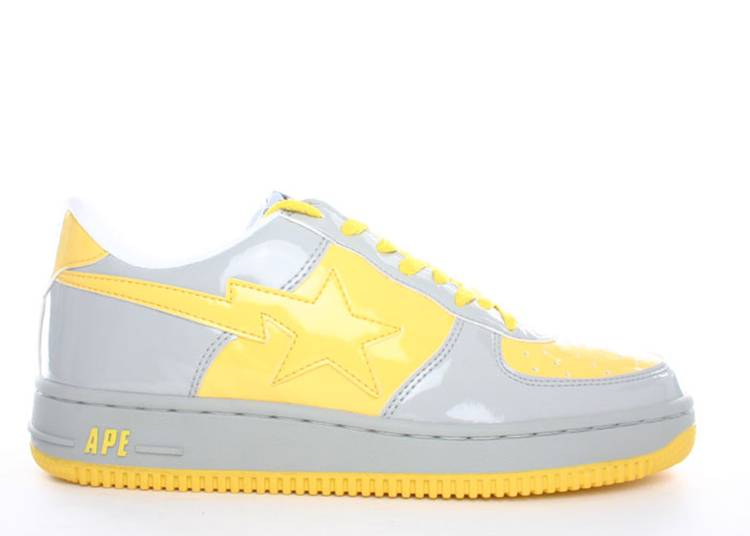 Bapesta FS-001 Low 'Grey Yellow'