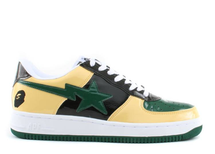 Bapesta FS-001 Low 'Black Yellow Green'