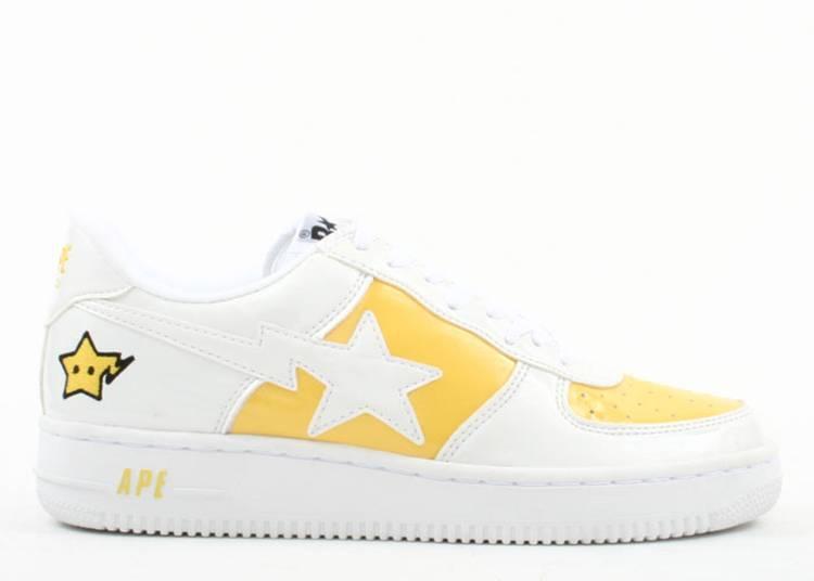 """bapesta fs-001 """"White Yellow"""""""