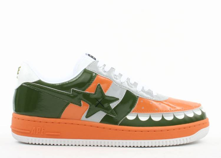 Kaws x Bapesta FS-029 Low 'Chompers - Orange Green'
