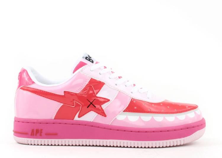 Kaws x Bapesta FS-029 Low 'Chompers - Pink'