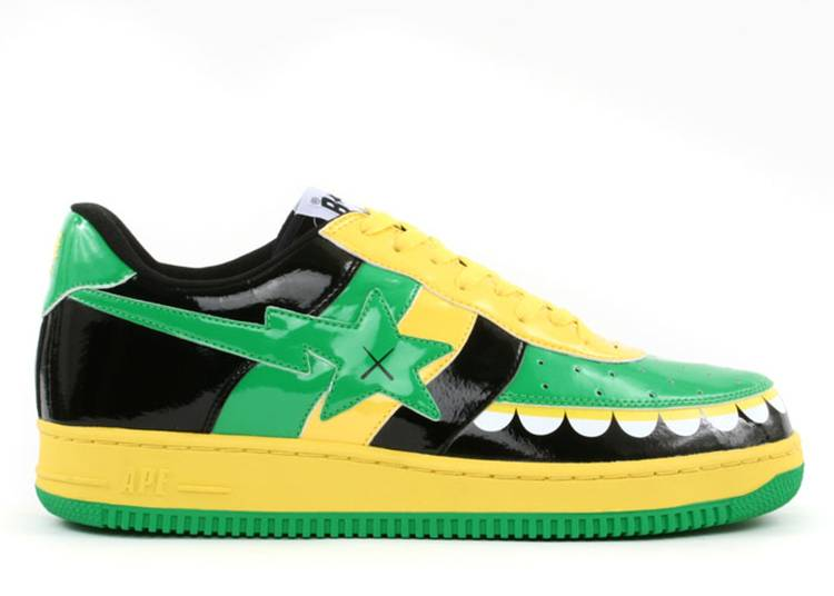Kaws x Bapesta FS-029 Low 'Chompers - Green Black'