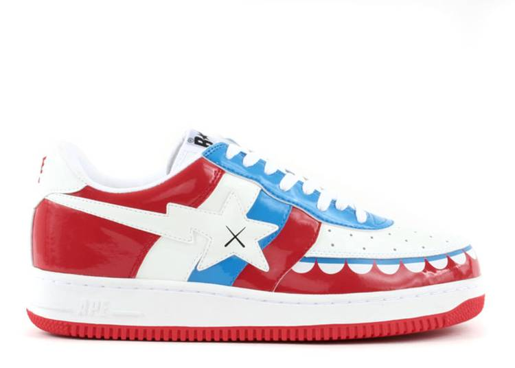 Kaws x Bapesta FS-029 Low 'Chompers - White Red'