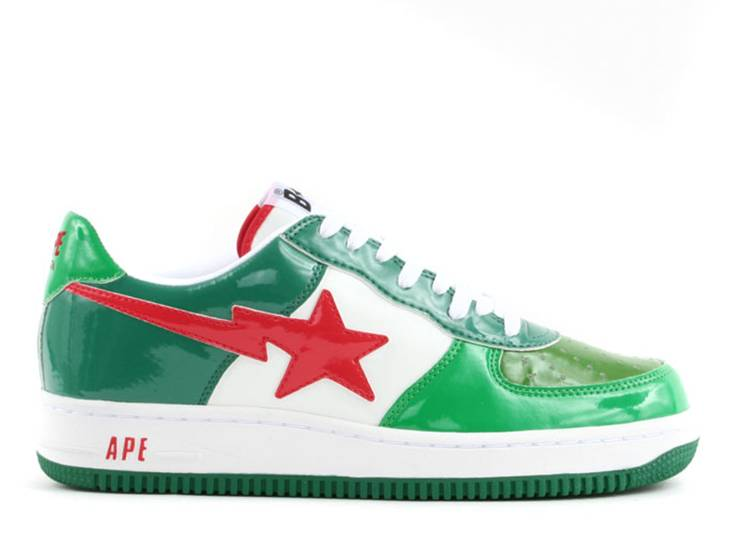 Bapesta FS-001 Low 'Green Red'