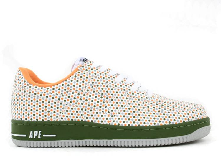 Bapesta FS-001 Low 'Green Orange Polka Dots'
