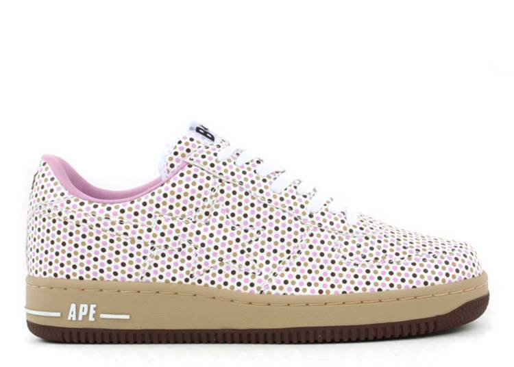 Bapesta FS-001 Low 'Pink Brown Polka Dots