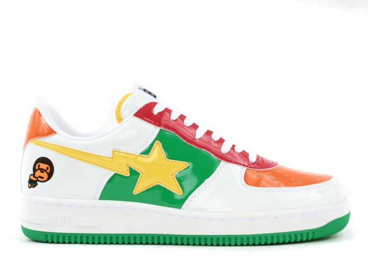 "bapesta fs-001 ""Baby Milo - White Yellow Green"""