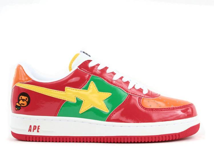Bapesta FS-001 Low 'Baby Milo - Red Green Yellow'