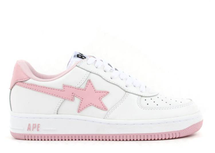 Bapesta FS-001 Low 'White Light Pink'