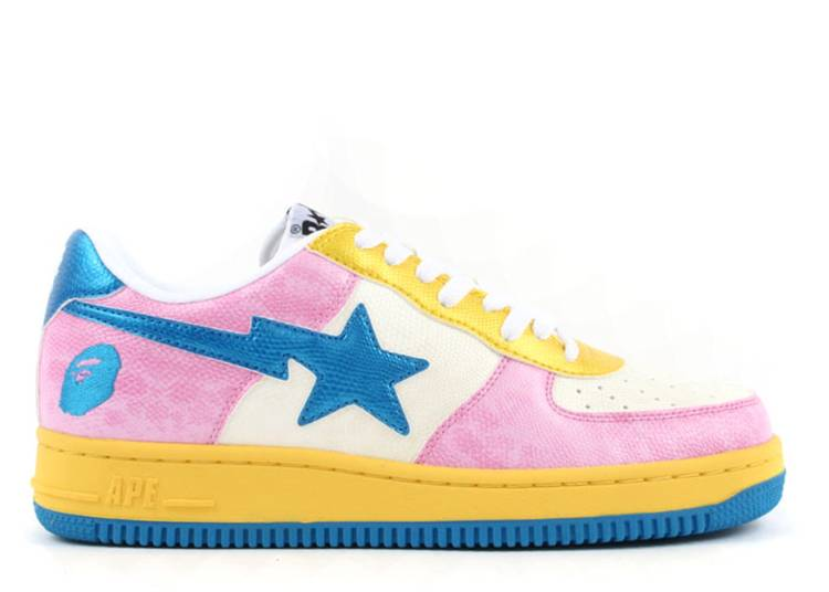 Bapesta FS-001 Low 'Washed Pink Blue'