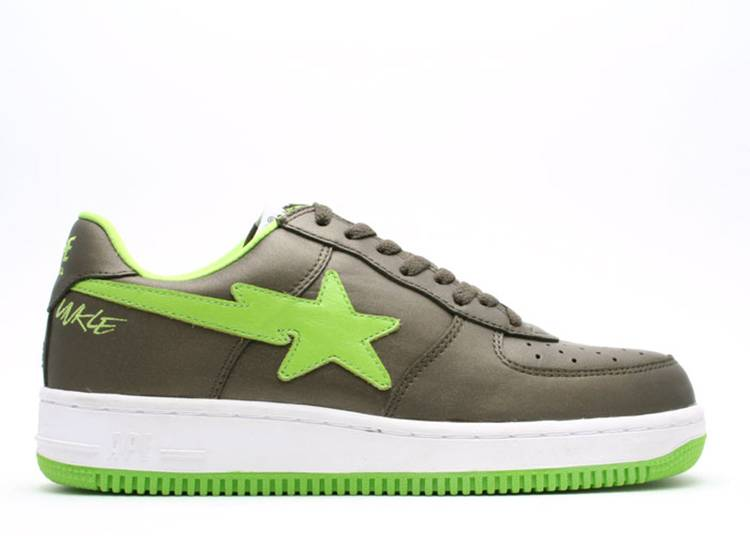 U.N.K.L.E. x Bapesta FS-001 Low 'Charcoal Green'