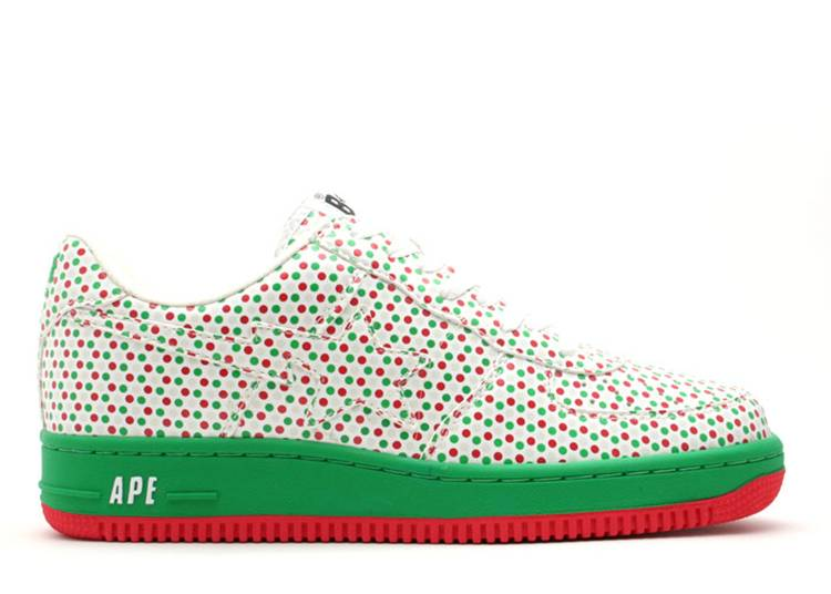 Bapesta FS-001 Low 'Green Red Polka Dots'