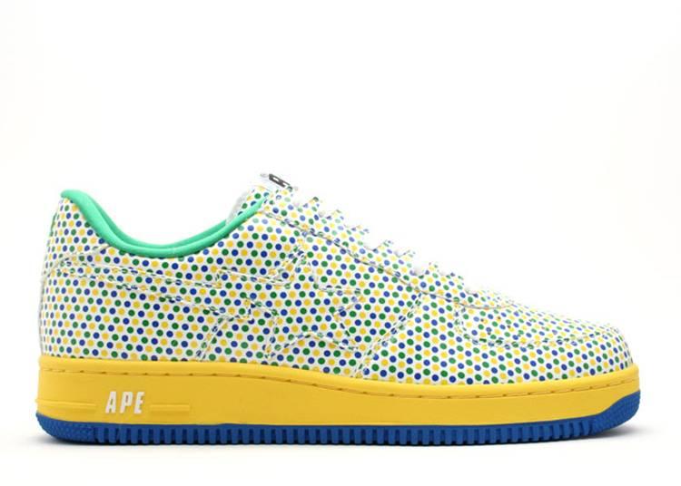 Bapesta FS-001 Low 'Yellow Blue Green Polka Dots'