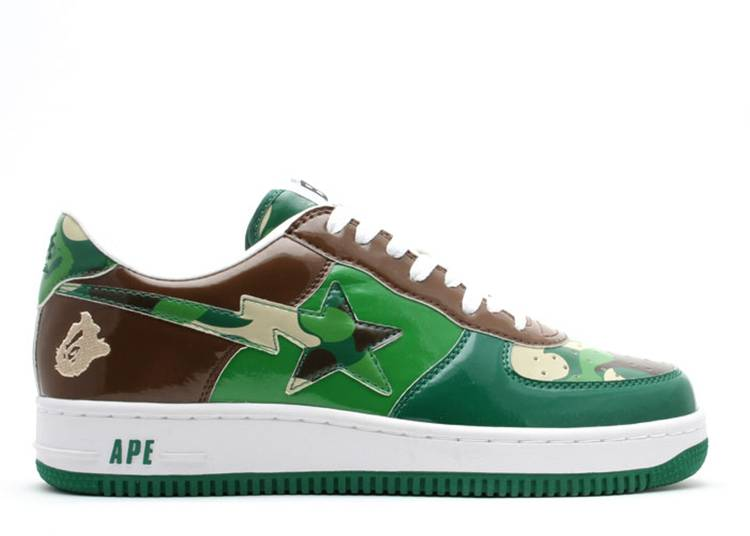 Bapesta FS-001 Low 'Green Camo'