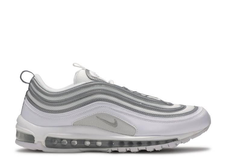 Air Max 97 White Silver Nike 921826 105 White Metallic