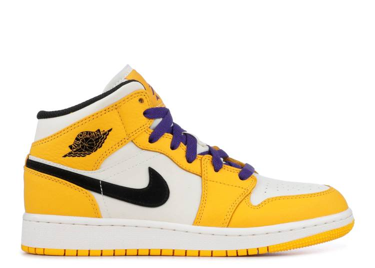 Air Jordan 1 Mid GS 'Lakers'