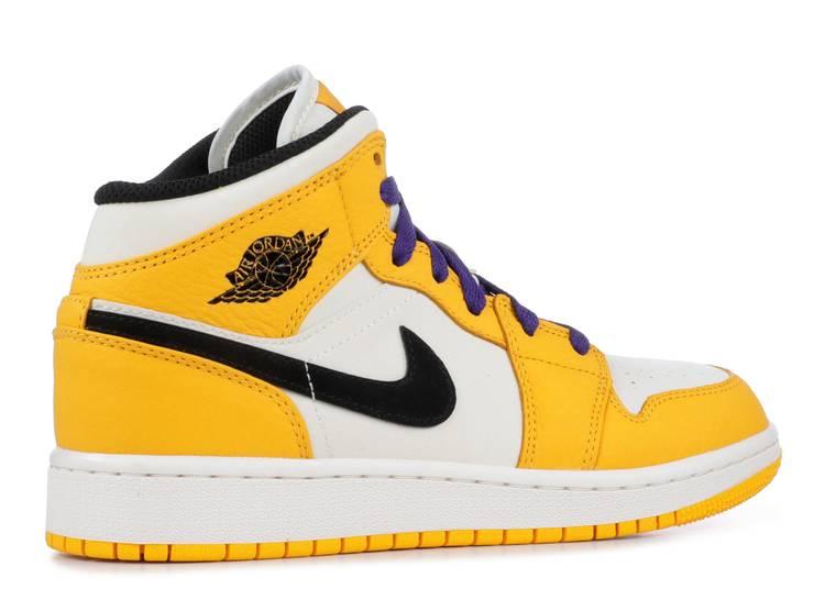Air Jordan 1 Mid GS 'Lakers'