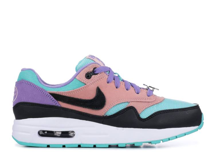 tramo solapa cubierta  Air Max 1 GS 'Have A Nike Day' - Nike - AT8131 001 - black/white/space  purple/bleached coral | Flight Club