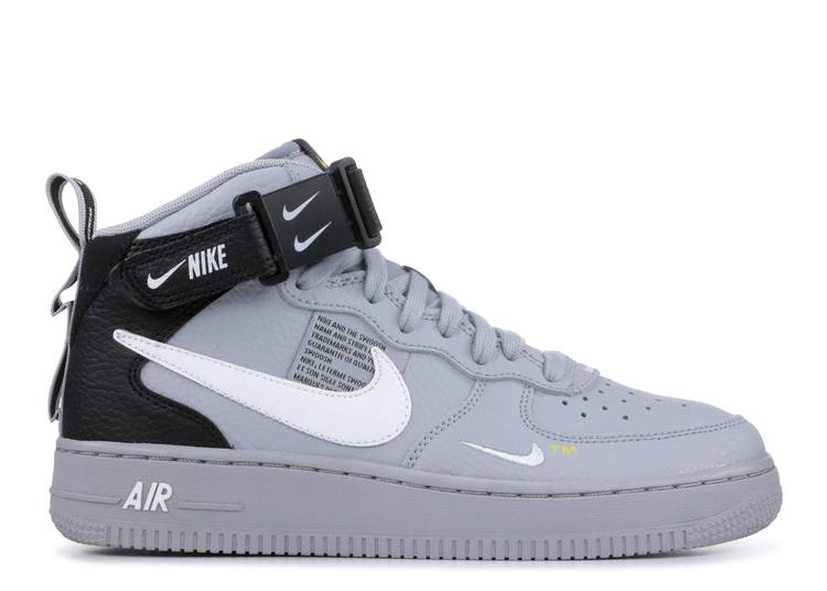 Air Force 1 Mid LV8 GS 'Overbranding' - Nike - AV3803 001 - wolf ...
