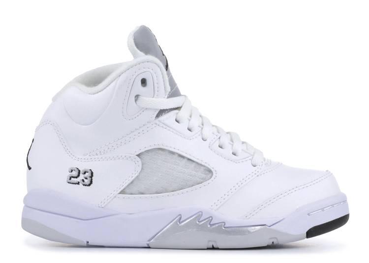 Air Jordan 5 Retro PS 'Metallic White'