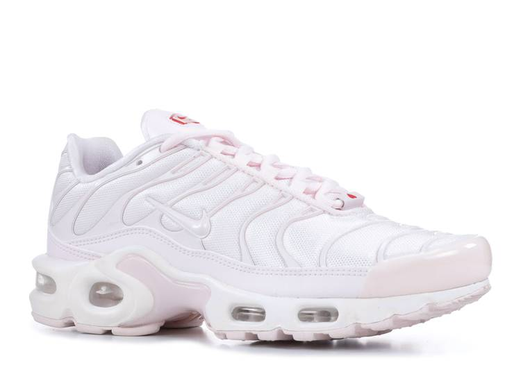 air max plus white university red