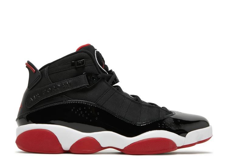 Jordan 6 Rings 'Black Varsity Red'