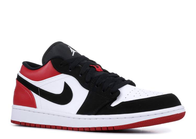 black and red jordans low top