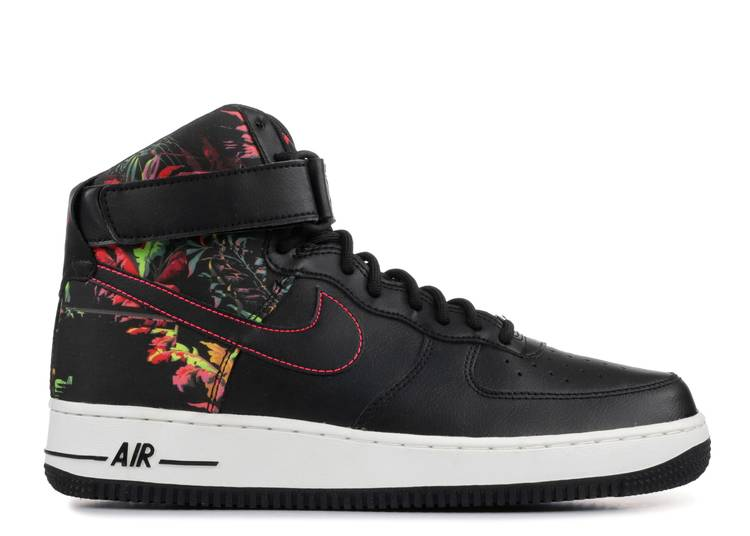 Air Force 1 07 High Black Floral Nike Ci2304 001 Black