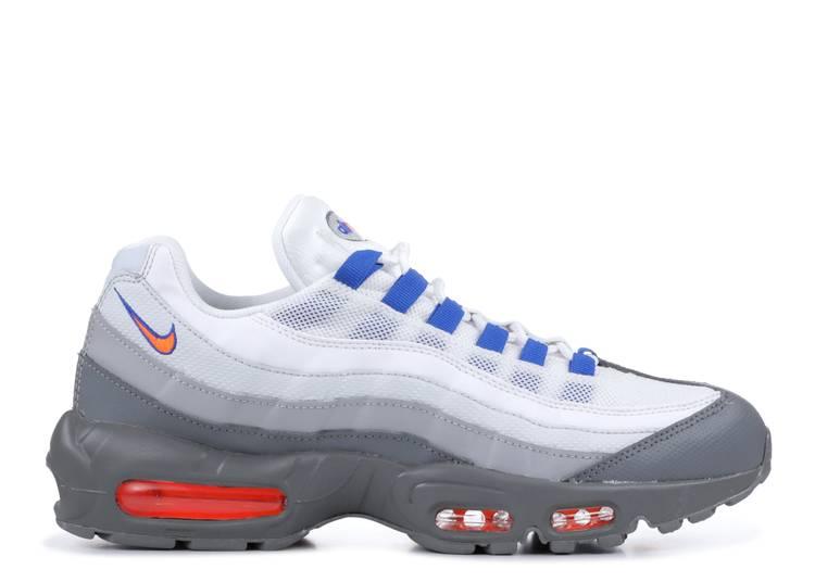 air max 95 cool grey/total orange/white essential