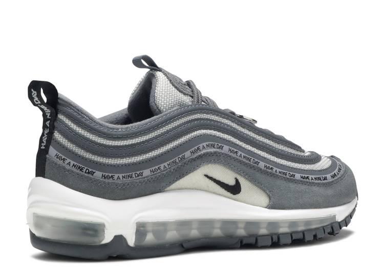 apasionado Fondo verde película  Air Max 97 GS 'Have A Nike Day Dark Grey' - Nike - 923288 001 - dark  grey/black-black-wolf grey-white | Flight Club