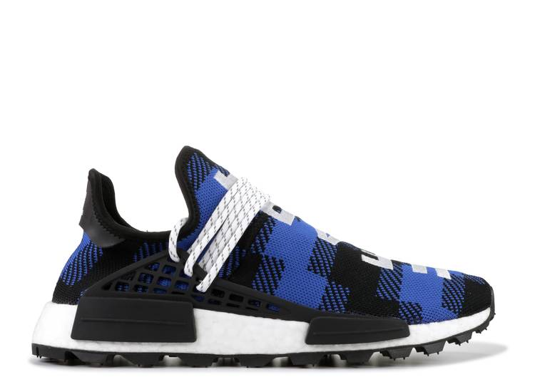 Pharrell x Billionaire Boys Club x NMD Human Race Trail 'Blue Plaid'