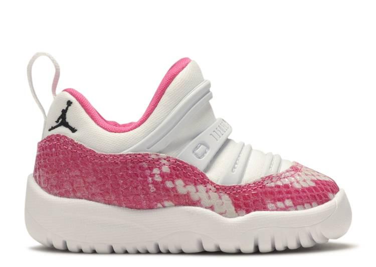 Air Jordan 11 Retro Little Flex TD 'Pink Snakeskin'