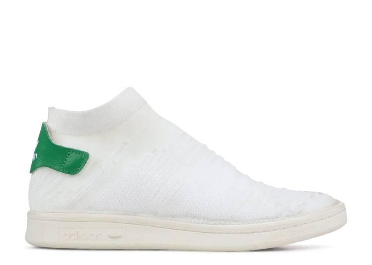 Wmns Stan Smith Sock Primeknit 'White Green'