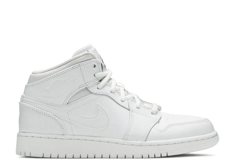 Air Jordan 1 Retro Mid GS 'White'