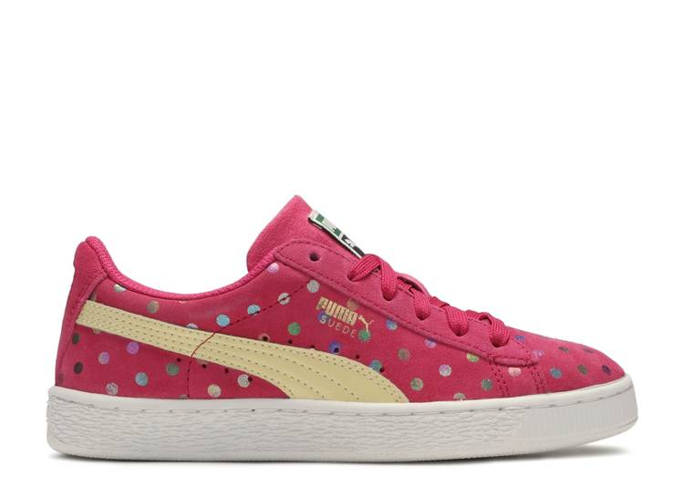 Suede Dotfetti Jr 'Rose Red' 'Rose Red'