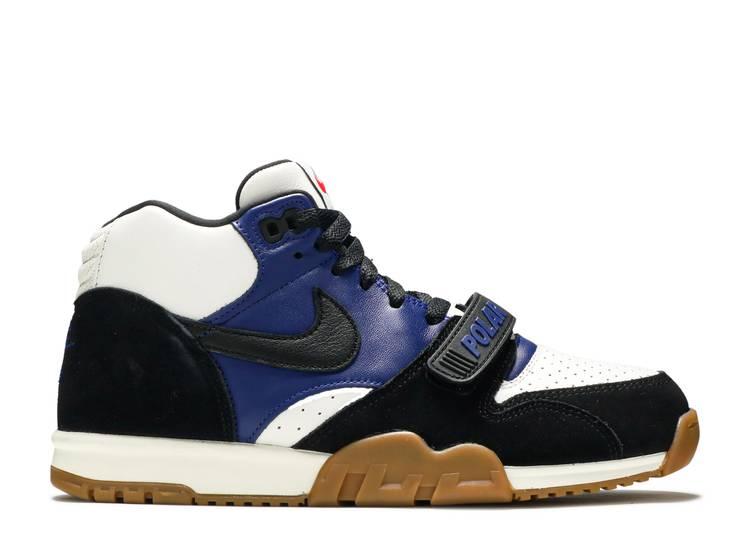 Polar Skate Co x Air Trainer 1 SB 'Black Deep Royal Blue'