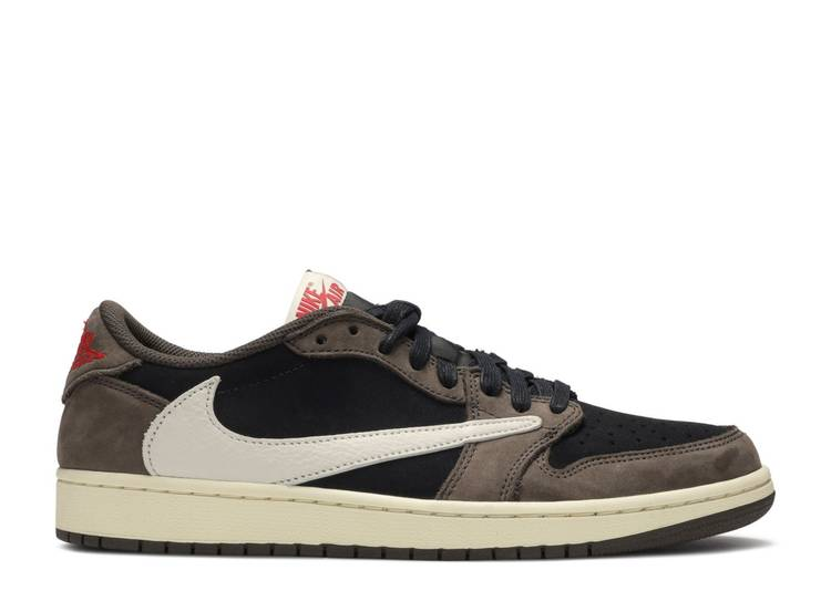 consultor Empuje desfile  Travis Scott X Air Jordan 1 Low 'Mocha' - Air Jordan - CQ4277 001 -  black/dark mocha-university red-sail | Flight Club
