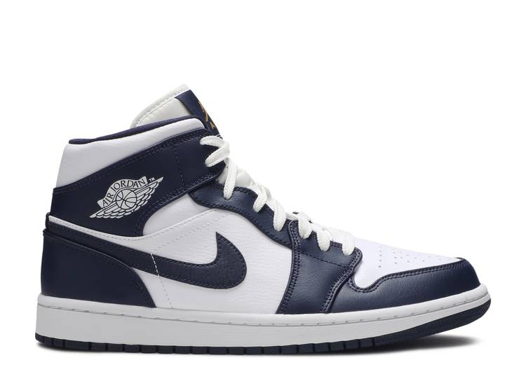Air Jordan 1 Mid Obsidian Air Jordan 554724 174 White