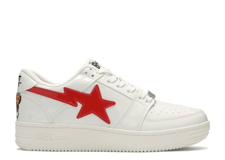 Bapesta Low 'White Red'