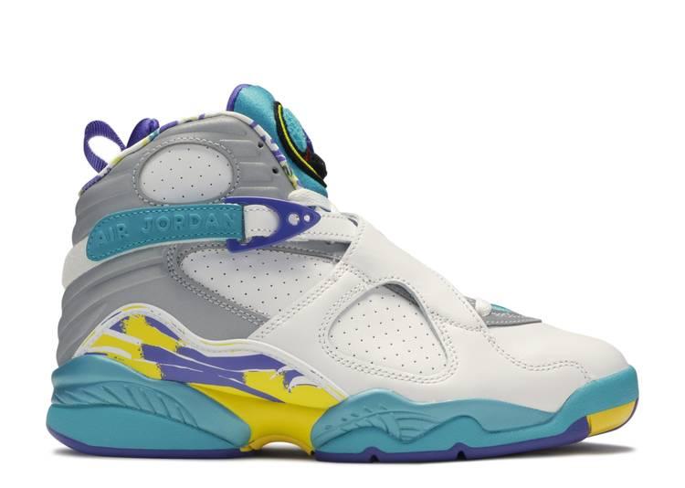 Wmns Air Jordan 8 Retro 'White Aqua'