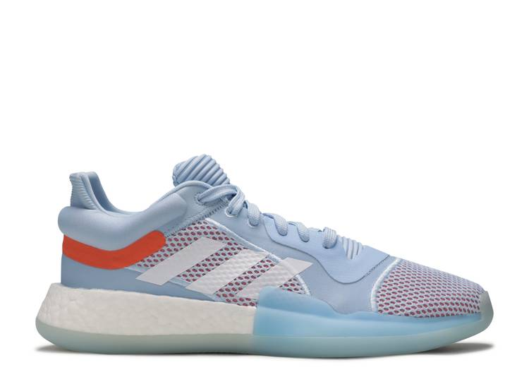 Equipar aumento Eliminar  Marquee Boost Low 'Glow Blue' - Adidas - G26215 - glow blue/cloud  white/hi-res coral | Flight Club