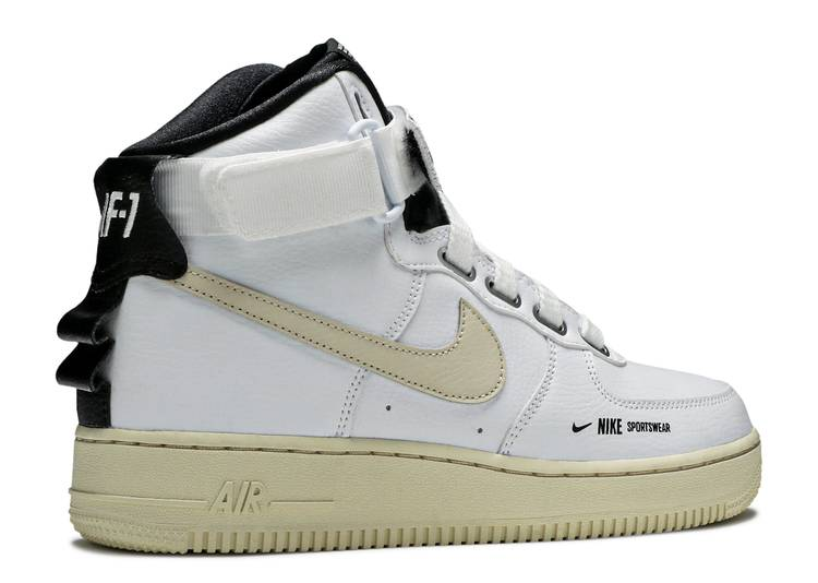 air force 1 high utility bianche