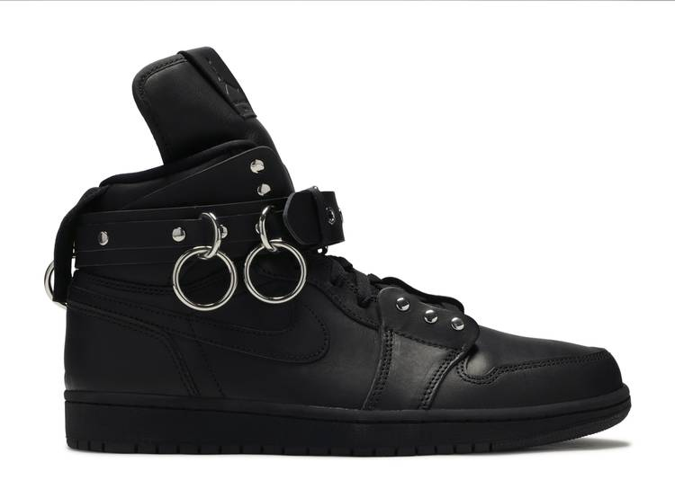 Comme des Garçons x Air Jordan 1 Retro Strap High 'Black'