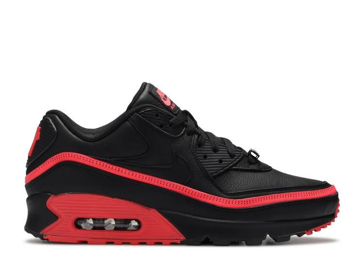 Undefeated X Air Max 90 Black Solar Red Nike Cj7197 003