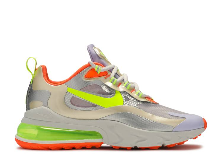 Wmns Air Max 270 React Nike Cq0210 101 White Platinum Volt